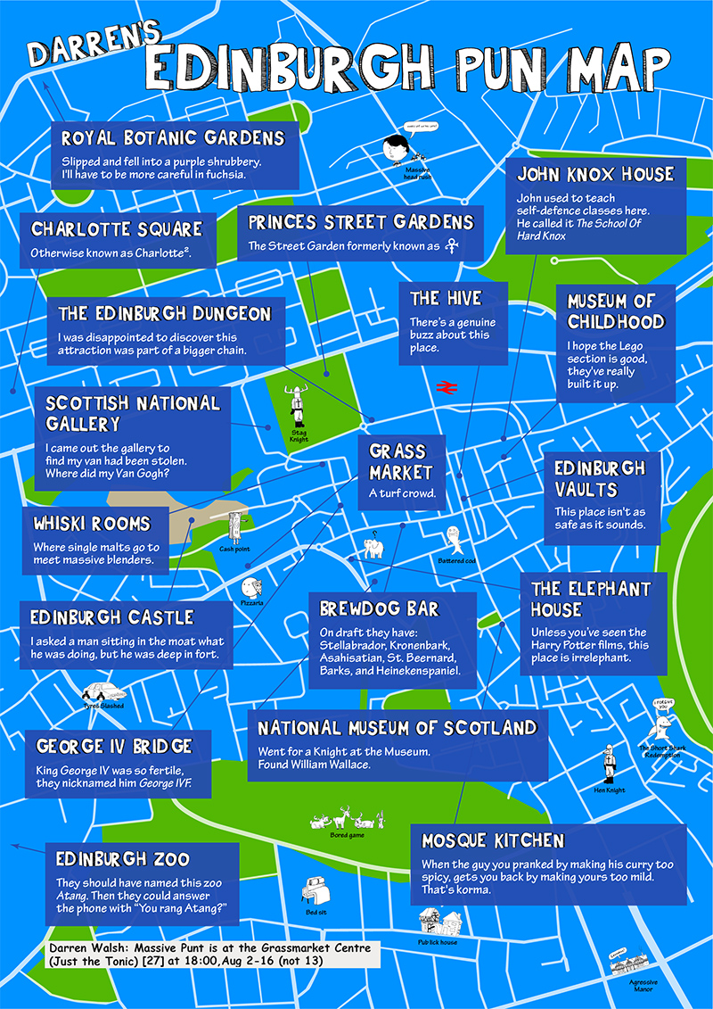 Darren's Edinburgh Pun Map
